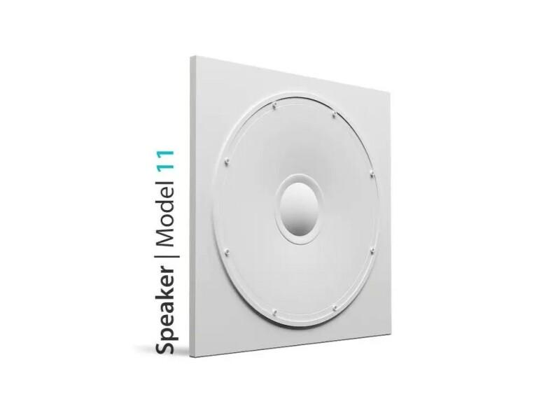 3D Wandfliesen im Speaker design aus Gips
